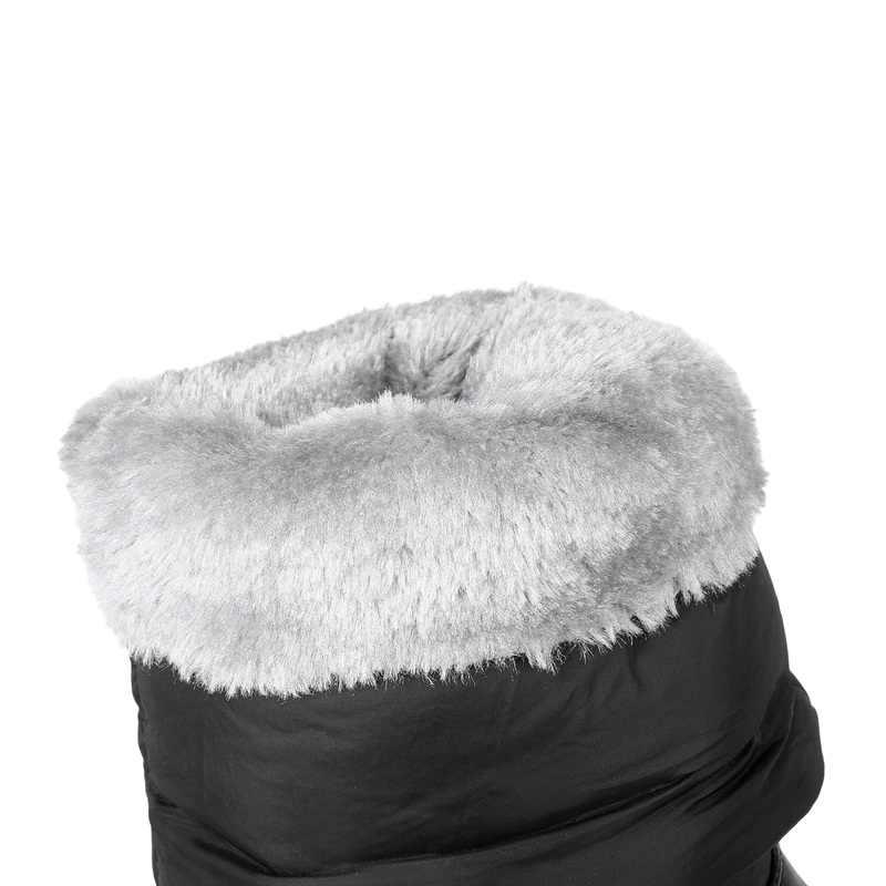 ASUMER sıcak 2020 kış rusya tutmak sıcak kar botları kadın pamuklu ayakkabılar moda platformu aşağı kürk botları yarım diz yüksek çizmeler
