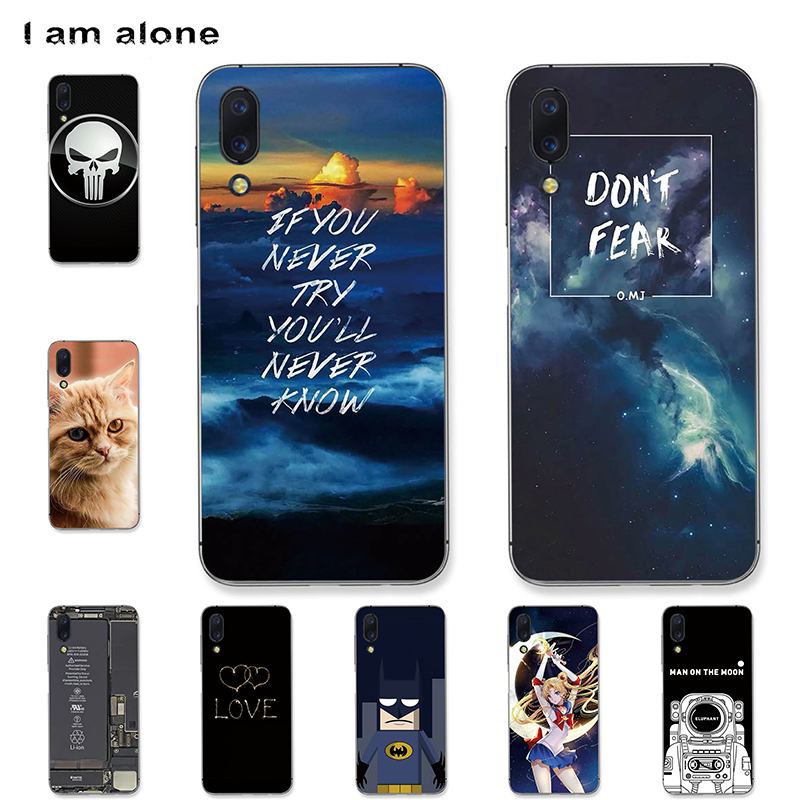 I am alone Phone Cases For UMIDIGI One Max 6.3 inch Black Soft TPU Fashion Mobile Cute For UMIDIGI One Bags Max Free Shipping
