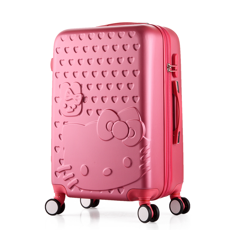 24 inch,Travel Suitcases,Spinner Rolling Luggage Set,Hello Kitty Suitcase Set,ABS Luggage Bags,Women and Girls Trolley Case цены онлайн