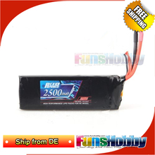 Ship From DE REX 2500MAH Battery 25C 2S1P For 1/14 RC Car LC Racing And RC Boat