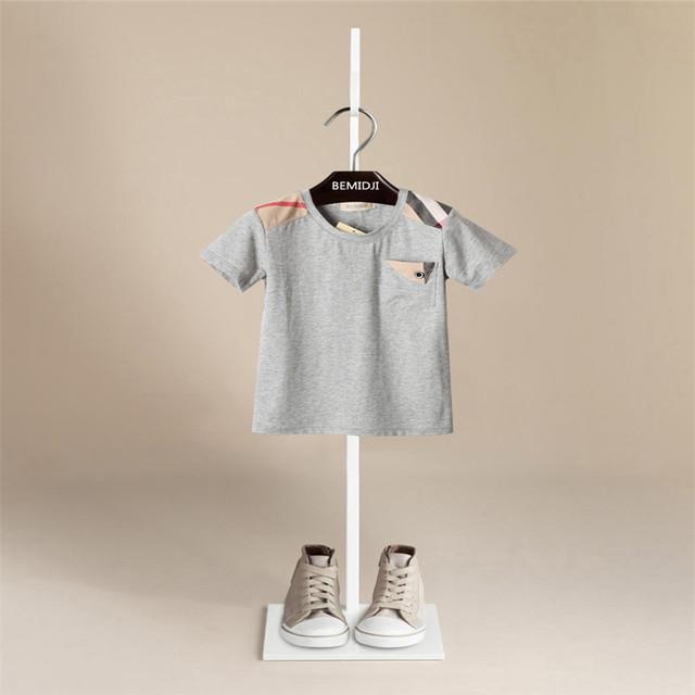 Bebé de la Camiseta 2017 de los niños del verano 100% de algodón de manga corta Camisetas niños Camiseta para niños ropa de bebé niña camisetas