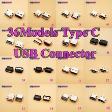 все цены на 36Model 36PCS/LOT Mini Type C Micro USB Jack Socket Connector for ZTE HUAWEI Samsung Xiaomi Meizu Charge Charging Port Dock онлайн