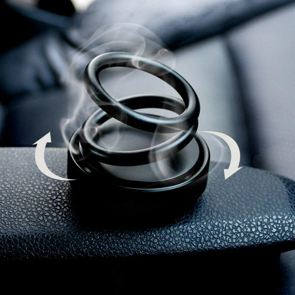 Car Air Purifier High-end Double Ring Rotating Designed UFO Fragrance
