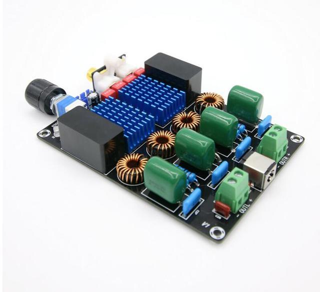 Dc 12v 24 12vハイファイTPA3116トップレベルのデジタル電力オーディオアンプボード100ワット * 2 2チャンネル高電力オーディオアンプボード
