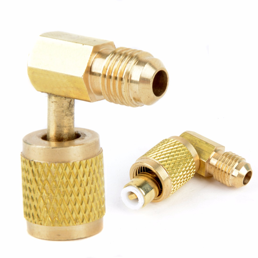 1pc Mayitr Brass Adapter Auto Car-styling AC Air Conditioner Refrigeration Tool Connector Adaptor for R410A Gauges Hose 10x1mm soft coil copper tube pipe air conditioner refrigeration systems