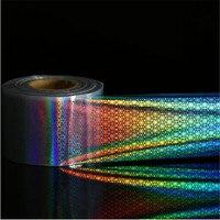 4CM 100M 1roll Nail Foil Laser Holographic Black Flower Nail Film Full Cover Nail Sticker