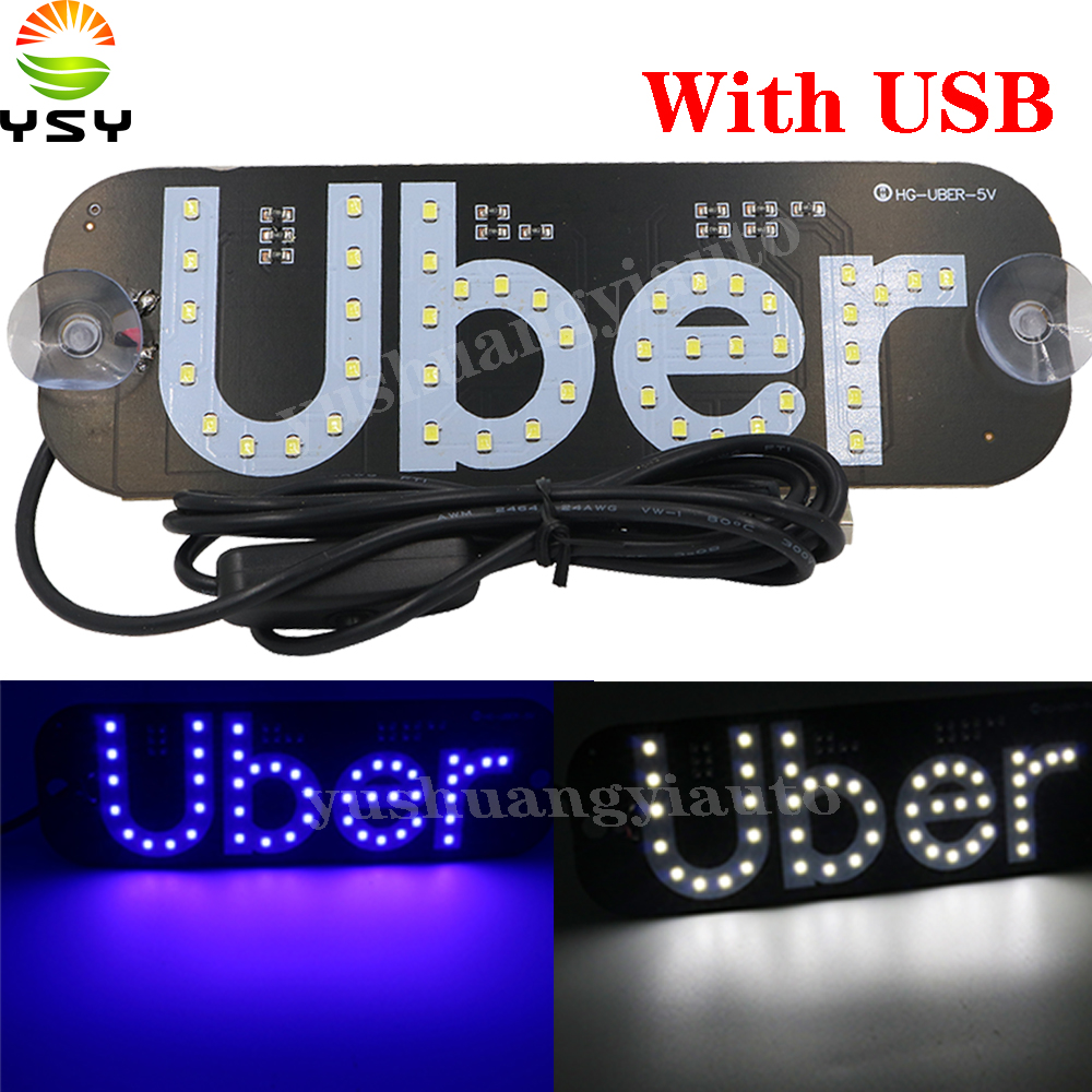 YSY Y 50X NEW model Uber With USB Dual color lyft Led Car Windscreen Cab indicator