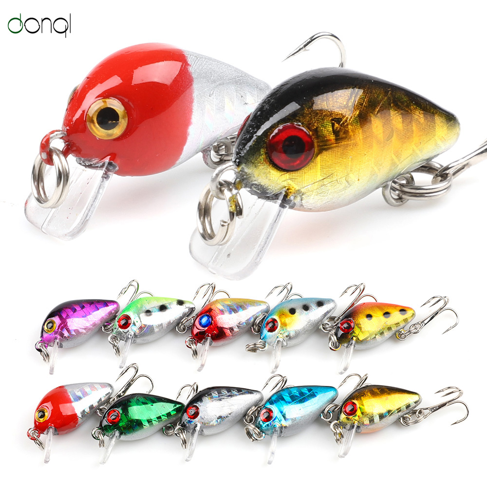 DONQL 2Pcs Wobblers Crank Fishing Lure Artificial Minnow Plastic Bait For Carp Fishing Topwater Bass Fish Tackle Hard Bait Jig