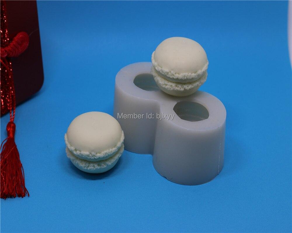3 d silikonová macaronová forma se dvěma otvory, formy na mýdlo / formy na mýdlo / silikonová forma na pečení
