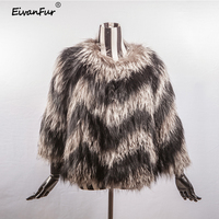 Female Coat Real Fox Fur With Natural Fur coat Warm Winter Coat Natural Fur Pretty Real Fur Coats Jacket