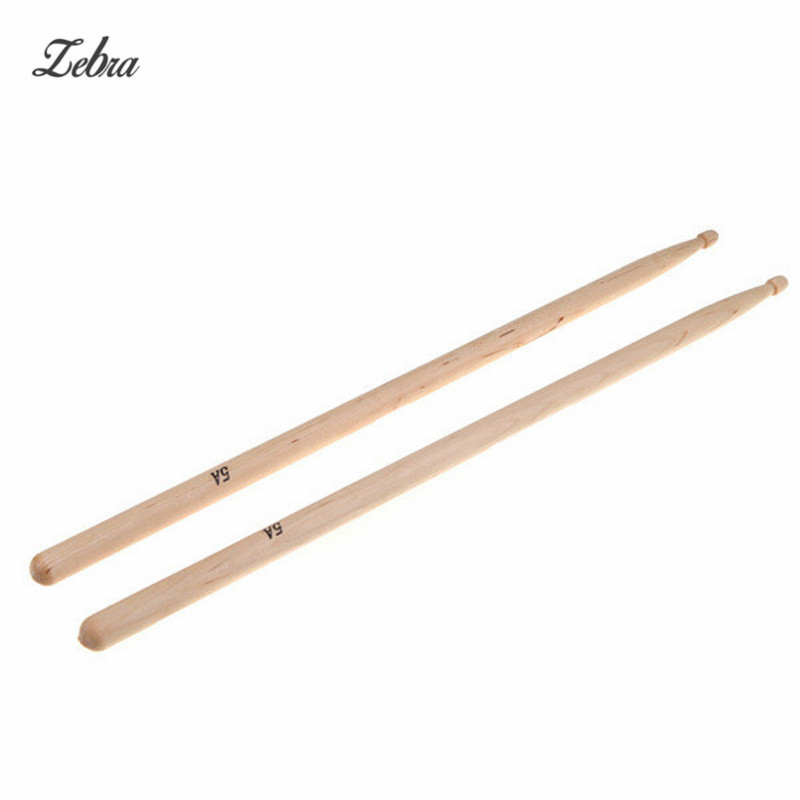 Zebra 1 Pair Maple 5A Size Maple Wood Drumsticks Stick For Drum Lightweight Wood Color Drum Sticks Musical Parts & Accessories