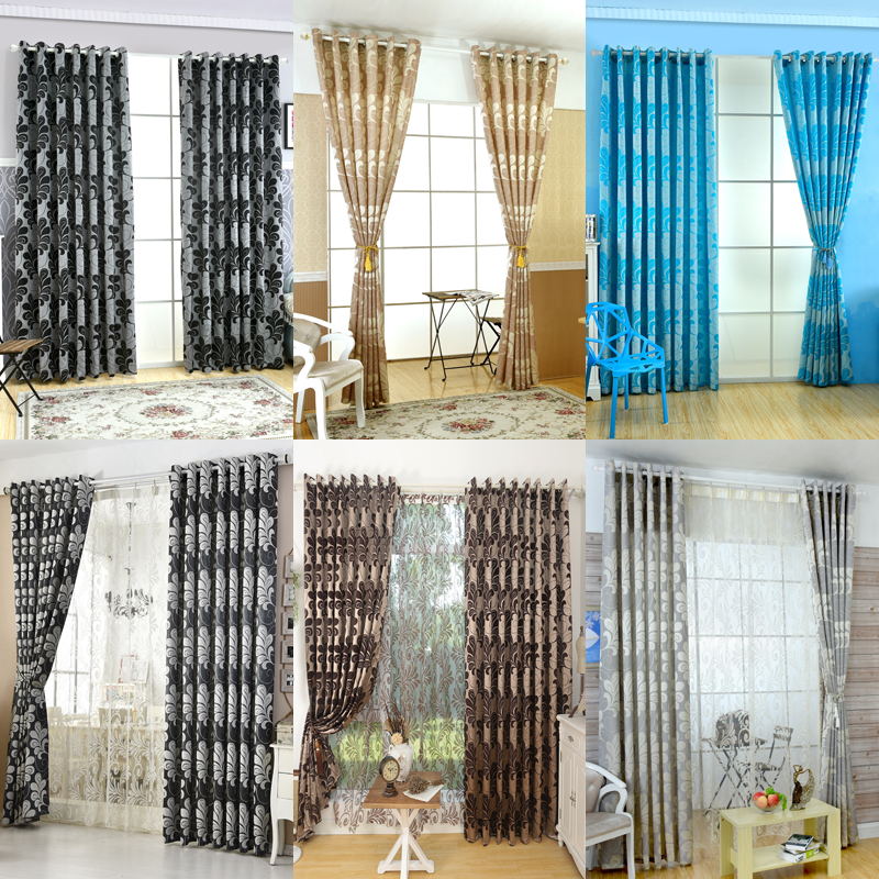 Kitchen Entrance Curtain: Rustic Style Window Treatments 3d Curtains With Tulle