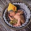 New Wool Fiber Blanket Filler Basket Stuffer Newborn Photography Background Props Baby Shower Gift Baby Knitting
