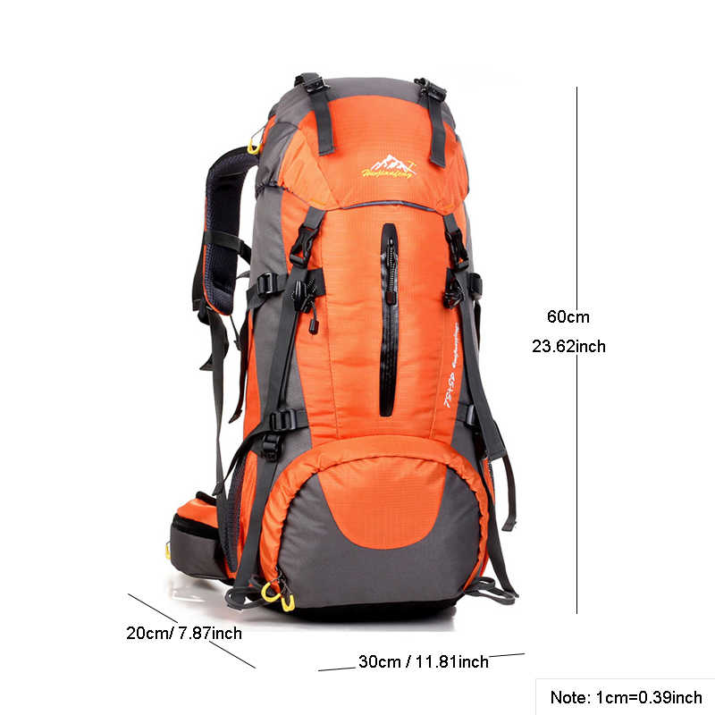Sac à dos imperméable de randonnée de voyage 50L, sac de sport pour les hommes de femmes, sac d'escalade de Camping en plein air, sac à dos d'alpinisme