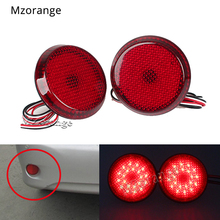 цена на 2Pcs Car LED Tail Rear Bumper Reflector Lights for Nissan/Qashqai/Trail/Toyota/Corolla 2009 Round Brake Stop Light Warning Lamp
