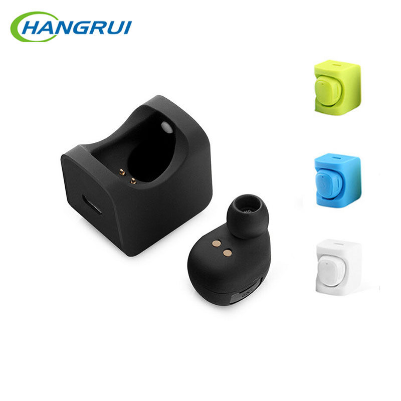 Hangrui C1 Bluetooth earphone wireless bluetooth 4.1 earbuds with <font><b>charger</b></font> <font><b>Long</b></font> talking time Invisible headsets with microphone