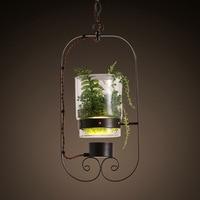 The American Modern Garden Pot Lamp Table Desk Office Bedroom Bedside Lamp Plant Decorative Lamp