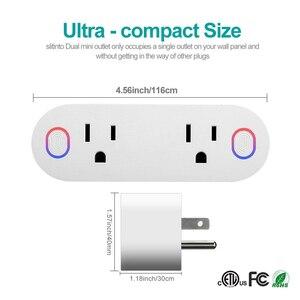 Image 2 - Lonsonho Tuya المكونات الذكية واي فاي المقبس نوع B الولايات المتحدة التوصيل 16A مراقبة الطاقة يعمل مع اليكسا جوجل المنزل مصغر