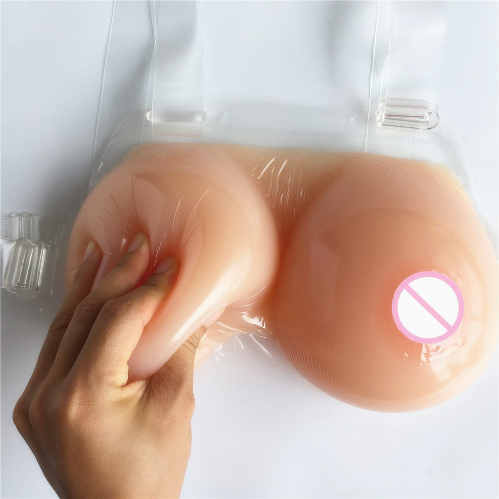 1800g shemale drag queen realistic breast prosthesis one piece silicone breast forms with bra straps 1400g round big hot sexy boobs shemale drag queen men breast prosthesis realistic breasts forms with straps