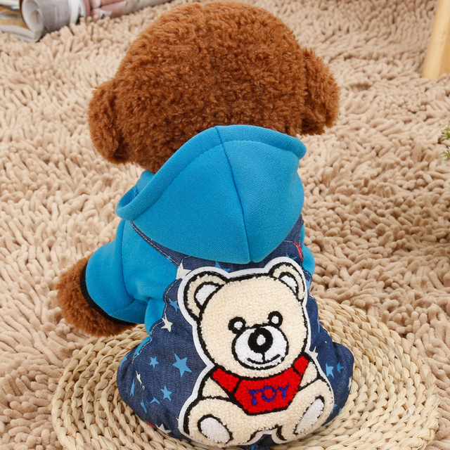 Cute Four Legs Pet Dogs Winter Coat In Bear Design Dogs Clothes New Clothing for Dog