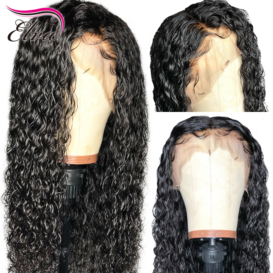 Frontal-Wigs Hair 360-Lace Curly with Baby Brazilian Bleached Knots 10/24-Pre-Plucked title=