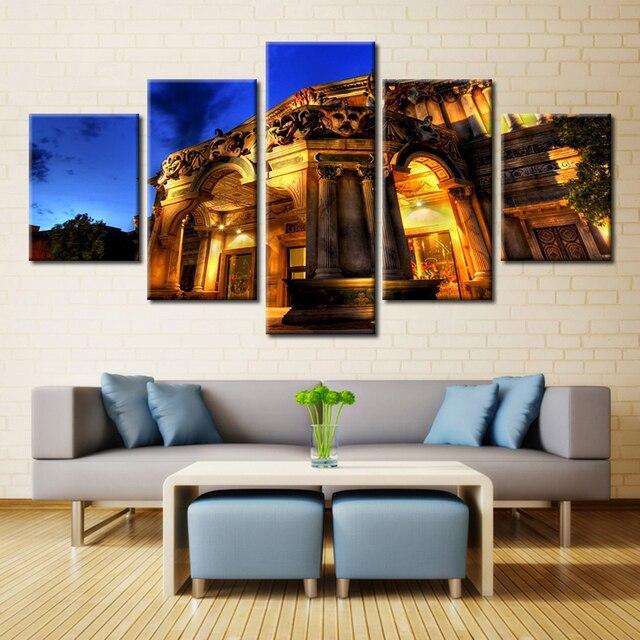 5 ps palace the ancient castle landscape paintings canvas wall art modern paint multi sizes cheap - Multi Castle Interior