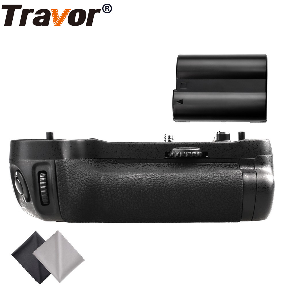 Travor vertical battery grip holder for Nikon D500 DSLR Camera as MB-D17 +1pc EN-EL15 battery+2pcs Microfiber Cleaning Cloth travor battery grip holder for nikon d7100 d7200 dslr camera replacement mb d15 1pcs en el15 li ion battery 2pcs lens cloth