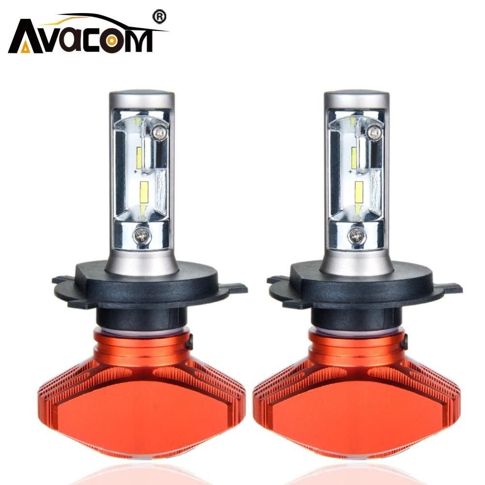 Avacom 2 pcs H1 H7 LED Voiture Ampoule H3 H11/H8/H9 9005/HB3 9006/HB4 HIR2 CSP 6500 k Super Blanc 12 v 24 v LED Lumière Pour Voiture Auto Lampe