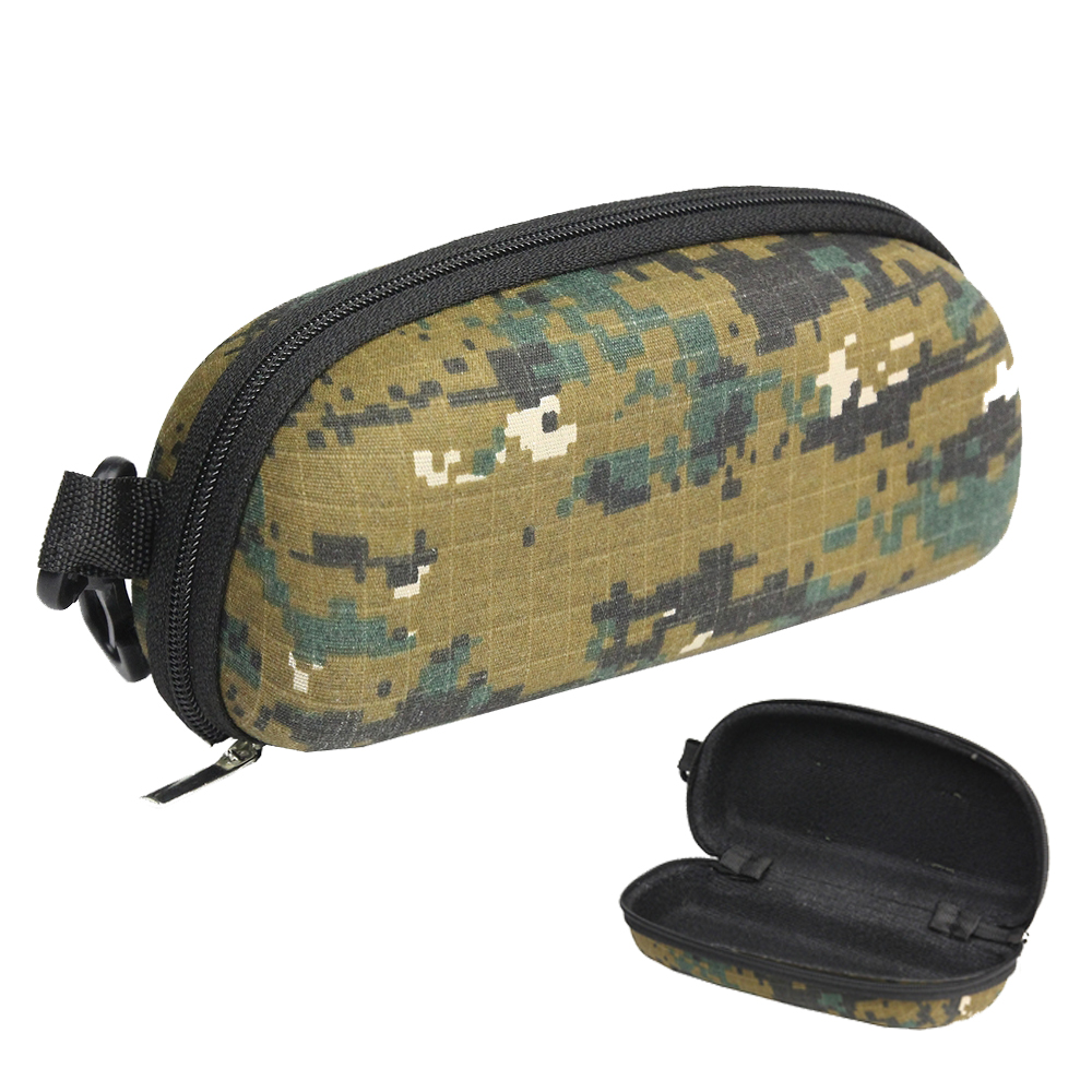 Tactical EVA Sunglasses Box Case Camouflage Molle Portable Zipper Sunglasses Bag Glasses Protector Outdoor Bags For Traveling