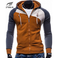 2016 New Fashion High Quality Hoodies Men Casual Sportswear Man Hoody Zipper Long Sleeved Sweatshirt Men