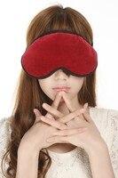 3D Non-trace Moerbei Zijde Slaap Slaapmasker Lavendel Zijde Oogmasker Oogmasker Slapen Zwart Rode Cover Deel van de Zijde
