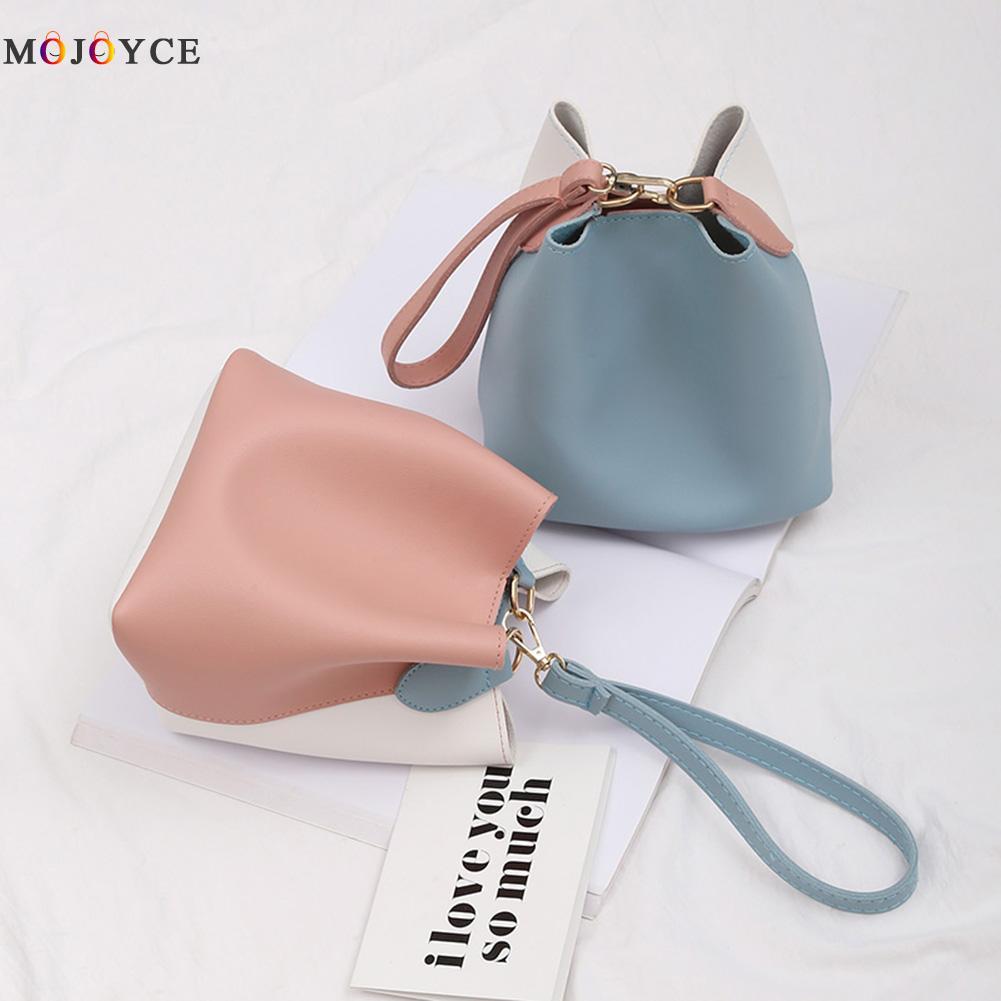 2018 Fashion Famous Brand Mini Size Ladies Bucket Bag Colors Patchwork Small Shoulder Bag Women Crossbody Bag Bolsa Feminina