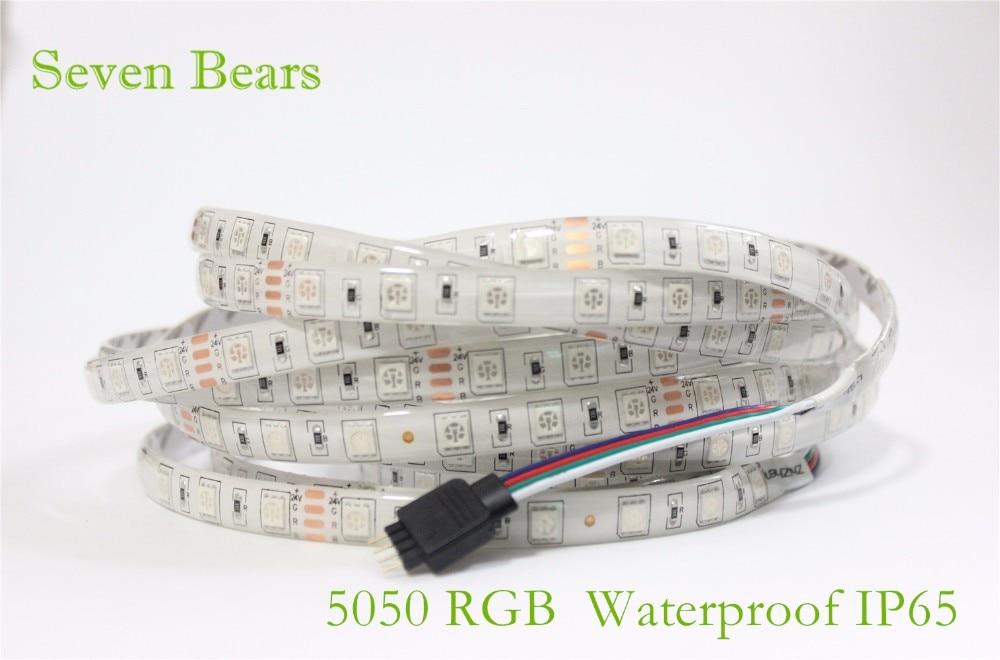 SMD 5050 RGB LED Strip Waterproof 5M 300LED DC 12V 24V CCT RGBCCT  RGBW RGBWW WHITE WARM WHITE Fita LED Light Strips Flexible