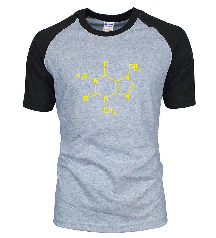 Adult Sheldon The Big Bang Theory Caffeine Molecular Formula science t shirt  2019 summer cotton chemistry raglan men t-shirt