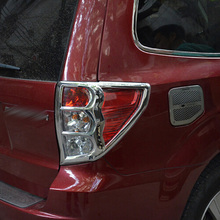 Car Styling ABS Chrome Taillight Cover Rear Tail Light Lamp Cover Trims Decoration 2Pcs For Subaru Forester 2009 2010 2011 2012