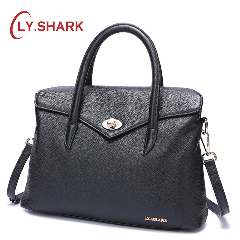 LY.SHARK Messenger Bag Women Bag Ladies Genuine Leather Handbag Women Shoulder Bag For Female Bags Women Handbag For Women 2018 2017 women handbags leather handbag multicolor women messenger bags ladies brand designs bag handbag messenger bag purse 6 sets