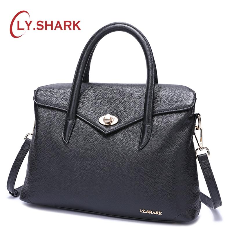 LY.SHARK Messenger Bag Women Bag Ladies Genuine Leather Handbag Women Shoulder Bag For Female Bags Women Handbag For Women 2018 сумка women handbag women bag 2015 ls3454a women handbag women bag women messenger bags