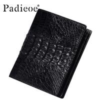 PADIEOE роскошный настоящий кошелек из крокодиловой кожи для мужчин Высокое качество Бизнес мужские короткие кошельки мода barnd натуральная ко