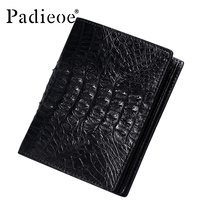 PADIEOE Luxury real crocodile skin wallet men high quality business men's short wallets fashion barnd genuine leather wallet