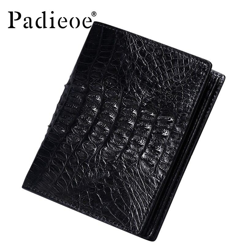 Padieoe Роскошные реального крокодиловой кожи бумажник высококачественные мужские деловые мужские короткий кошельки мода barnd Натуральная кож