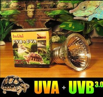 110v UVA UVB 3.0 Reptile Terrarium Halogen Tungsten E27 Light Bulb Stimulate Appetite Calcium Synthesis Vitamin D3 25W 50W 75W