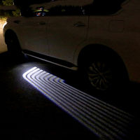 LED Car Welcome Light wings of an angel Laser Bulb Auto Door Light for For Nissan Patrol Armada X trail Qashqai Accessories