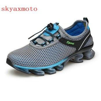Skyaxmoto marka 2017 najnowszy buty do biegania amortyzację oddychające Walking Jogging sportowe na świeżym powietrzu męskie tenisówki profesjonalnego Athleti