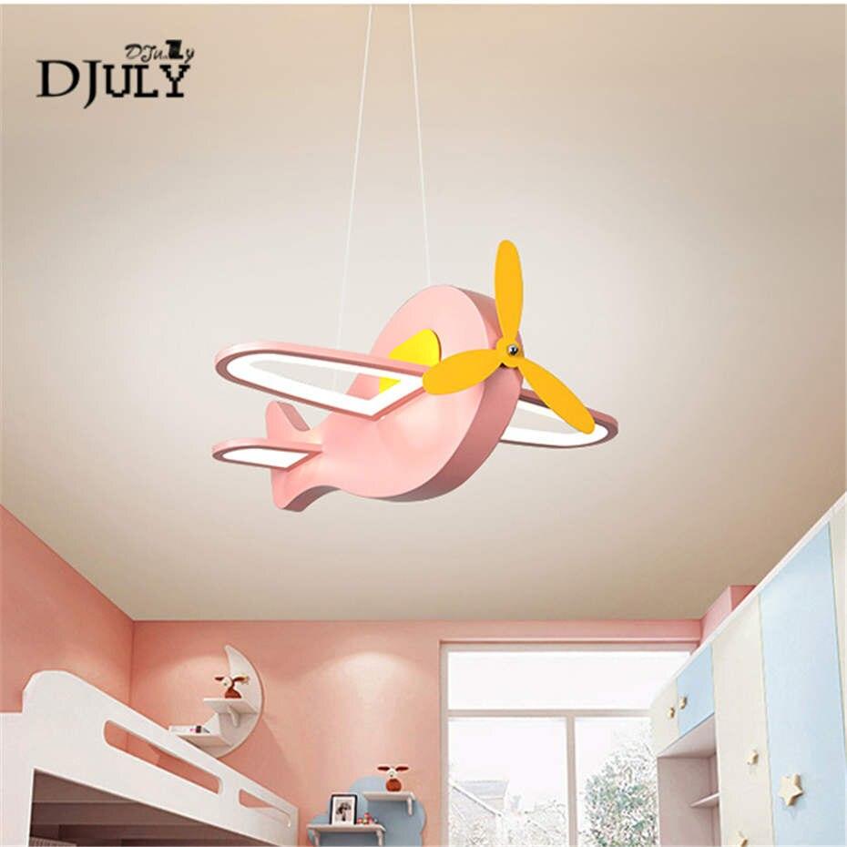 Nordique créatif avion télécommande lustre pour enfants chambre étude salle à manger luminaires pépinière led luminaire