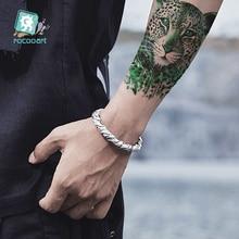 Rocooart Leopard Tattoo Lion Fake Tiger Temporary Stickers For Women Body Art Taty Waterproof Tatuajes Wolf Men