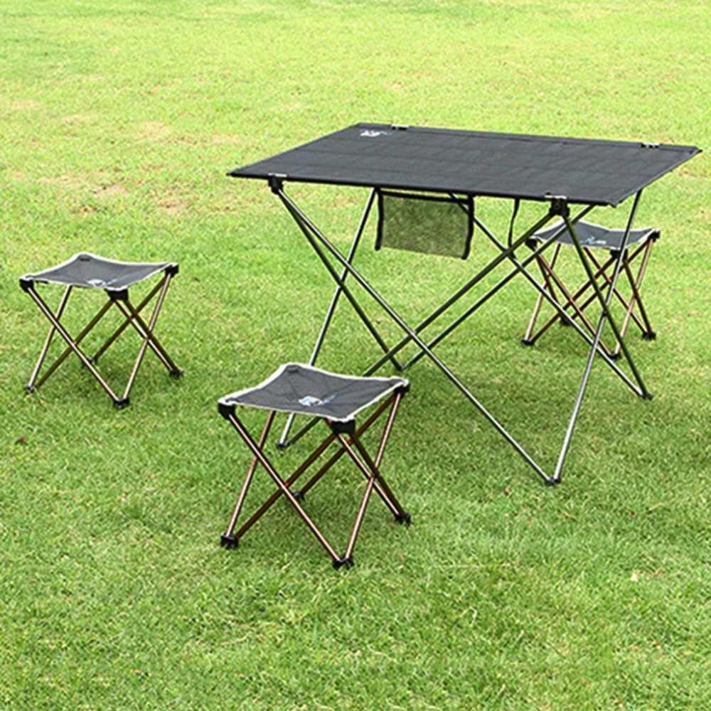 Сверхлегкий 7075 алюминиевый сплав квадратный табурет складной Открытый стул место для пикника барбекю садовый стул для кемпинга рыбалки