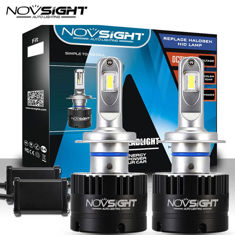 купить Novsight Headlights H7 Led 80w 14400lm Pair Car Lamps 5500k White Light Dc 9v-16v 2 Pcs Auto Bulb Headlamp 2 Years Warranty по цене 4425.28 рублей