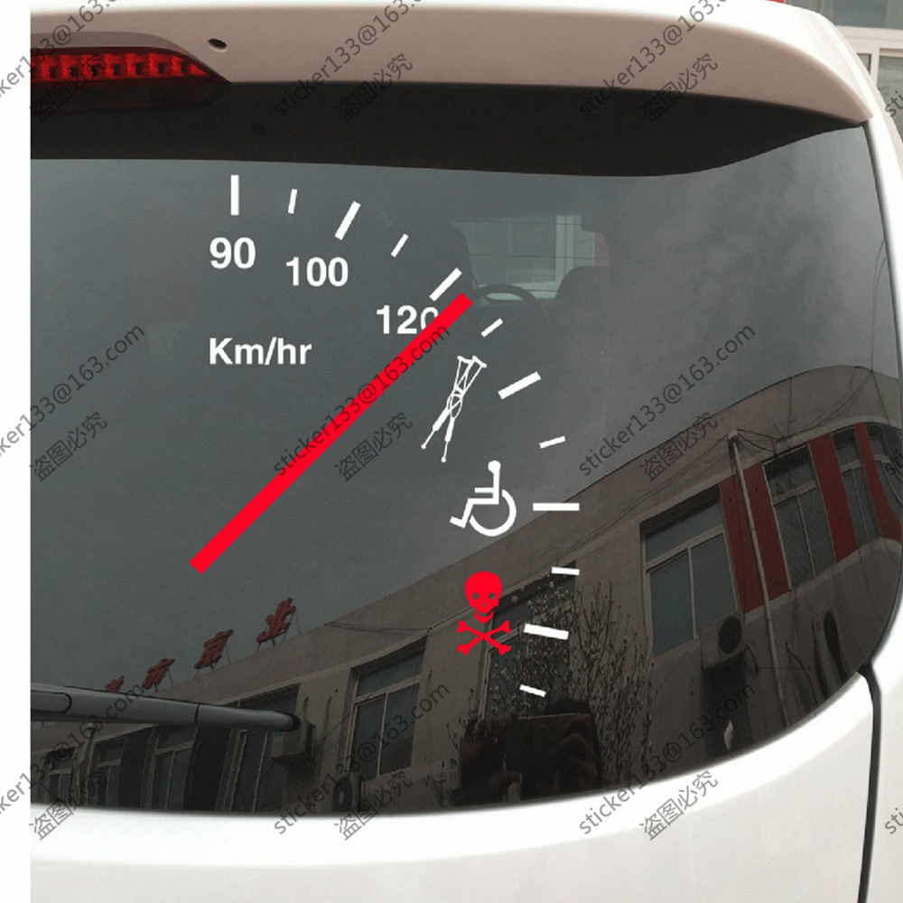 Bumper sticker design tips - Speeding Safe Warning Funny Speedometer Cluster Vinyl Car Decal Bumper Sticker Choose Your Size