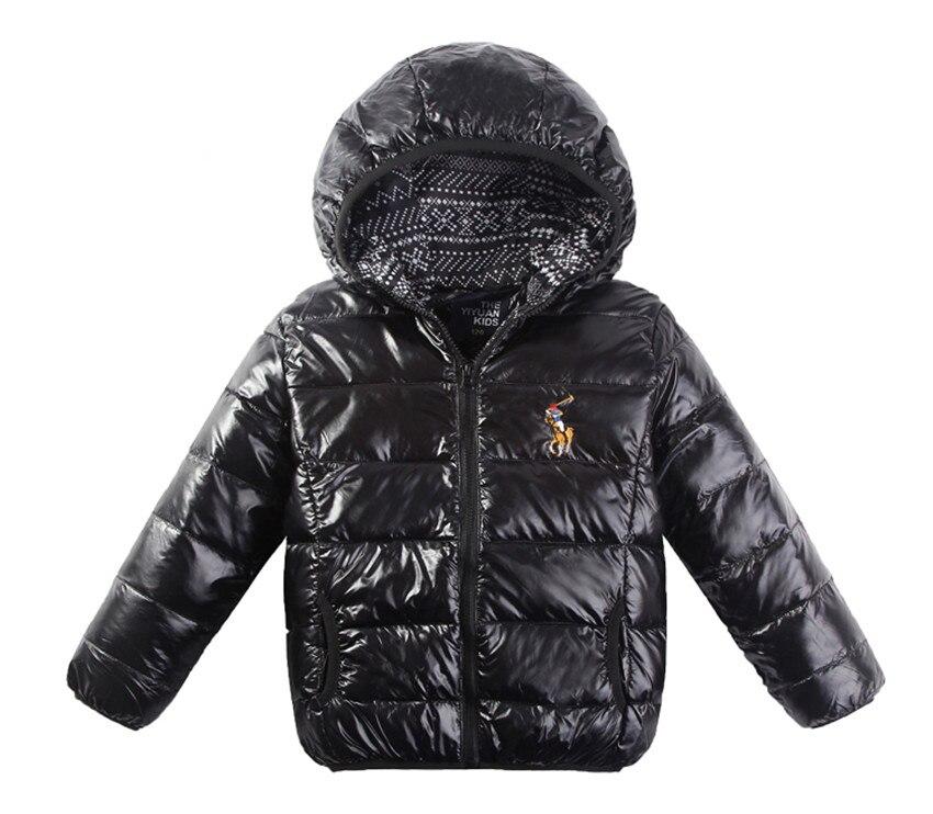Down Winter Children Jackets Boys 2016 Children Slim Down Jacket Short Paragraph Hooded Warm Down Coat