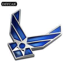 DSYCAR 3D Metal US Air Force Car sticker Logo Emblem Badge Car Styling for Fiat Bmw Ford Honda volkswagen Audi toyota opel DS VW dsycar 1 pair 3d metal turbo car sticker emblem badge for jeep bmw ford volvo nissan mazda audi vw honda toyota lada chevrolet